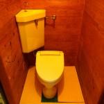 トイレ。床と便座はDIYで交換済