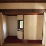 2階和室。奥のU字カーブの造りがカッコイイ