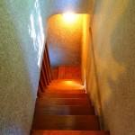 階段。レトロな雰囲気です。
