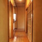 廊下が古民家みたいで素敵!