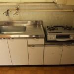 キッチン。ガスコンロも付いています。