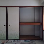 和室には押入れもあります。