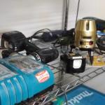 あかぎハイツにあるよっちゃん専用の工具室。DIYの相談にのれます。