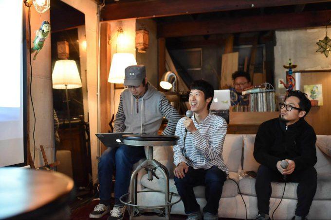 kaminariのイベントに参加するTokoa coffee池田和繁さん取材の様子