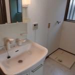 洗面台と室内洗濯機置場(内装)