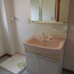 室内洗濯機置場と洗面台