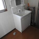 洗濯機置場と独立洗面台