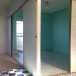 南側の和室はパステルカラーのグリーン