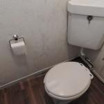 トイレは洋式。床もきれいに。