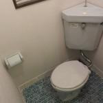 タイルの可愛いトイレ