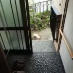 小石の玄関