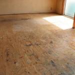 床は板張りです。