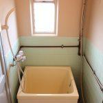 浴室はレトロ