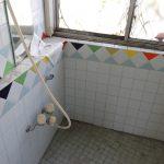 お風呂跡のタイルがレトロ可愛い(4階)