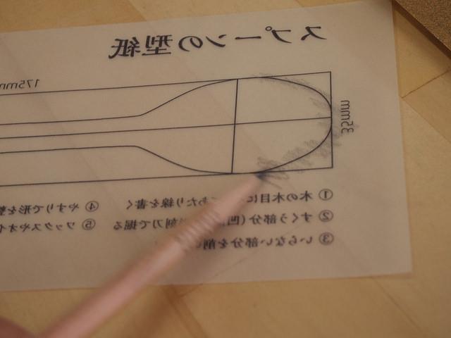 カーボンにするため裏に鉛筆をこすりつけます。