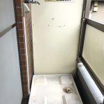 洗濯機置き場はバルコニー(屋外)です